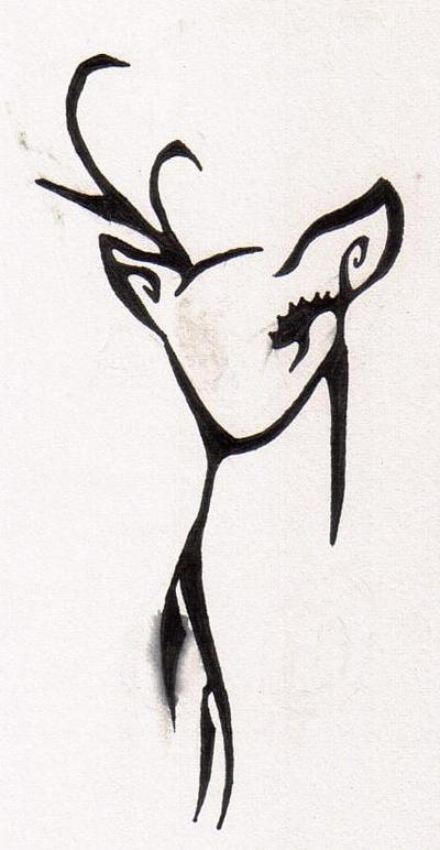 deer tattoo by evillime on deviantart. Black Bedroom Furniture Sets. Home Design Ideas