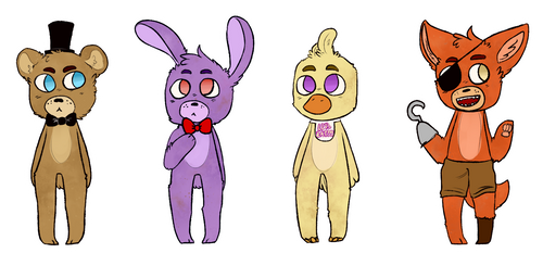 FNAF stickers! by PECHIV