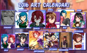 2016 Art Calendar by KuroeArt