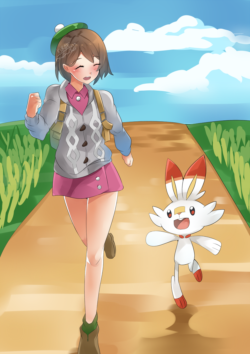 Off to a new adventure! [Pokemon Sword/Shield] by KuroeArt