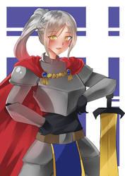 Knight Girl OC by KuroeArt