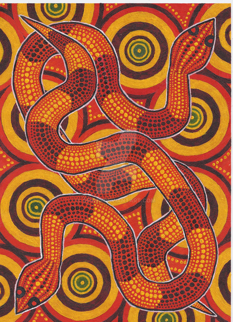 Aboriginal Design Wallpaper : Aboriginal snakes by derng on deviantart