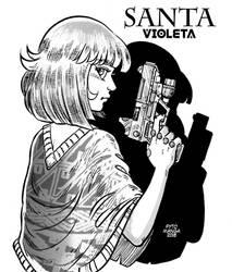 Santa Violeta, and his GUN by Fytomanga