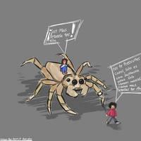 Carol and the big spider