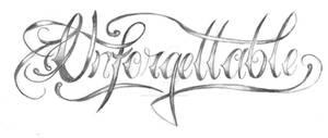 Tattoo custom lettering