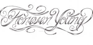 Forever Young custom tattoo