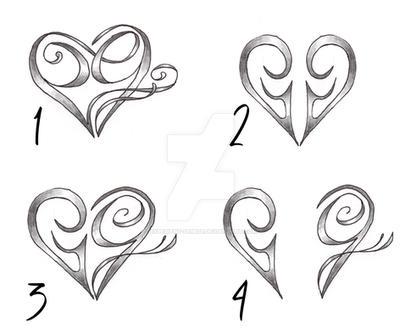 custom heart let...A Alphabet Design In Heart