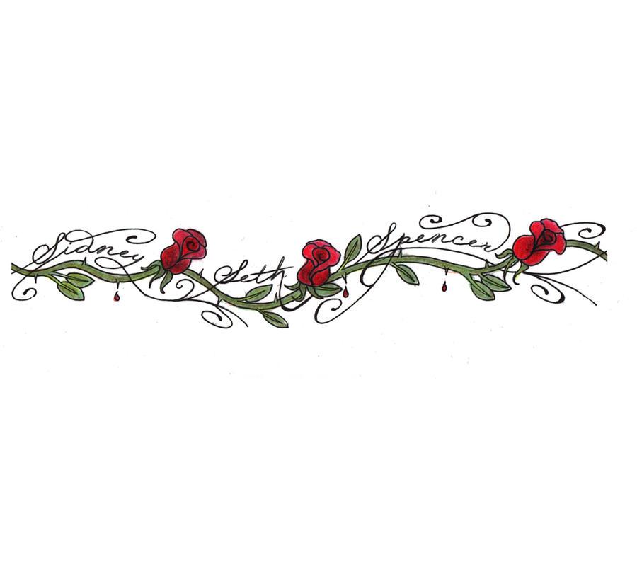 custom rose tattoo anklet by expedient demise on deviantart. Black Bedroom Furniture Sets. Home Design Ideas