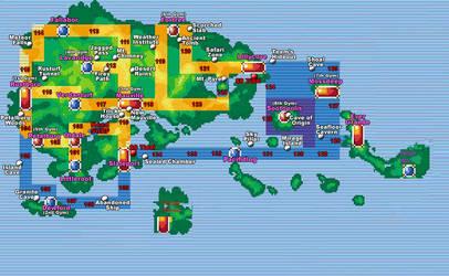 Map pokemon for rp i doing by SubPhantom