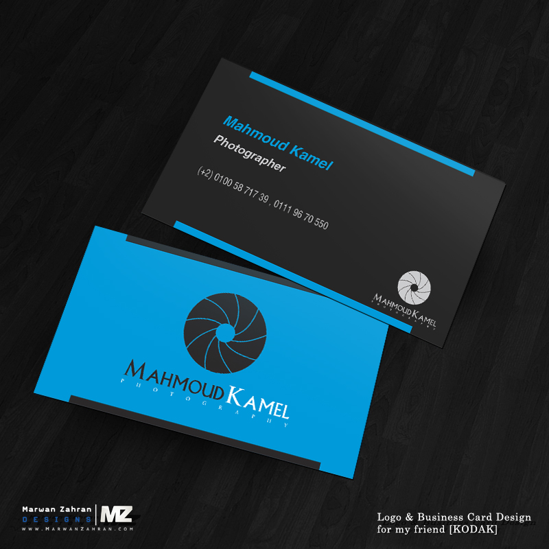 Photographer Business Card and logo Design by MarwanZahran on ...