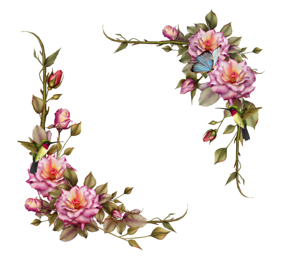 Pink-floral-layout-frame By TheDarkDesert On DeviantArt