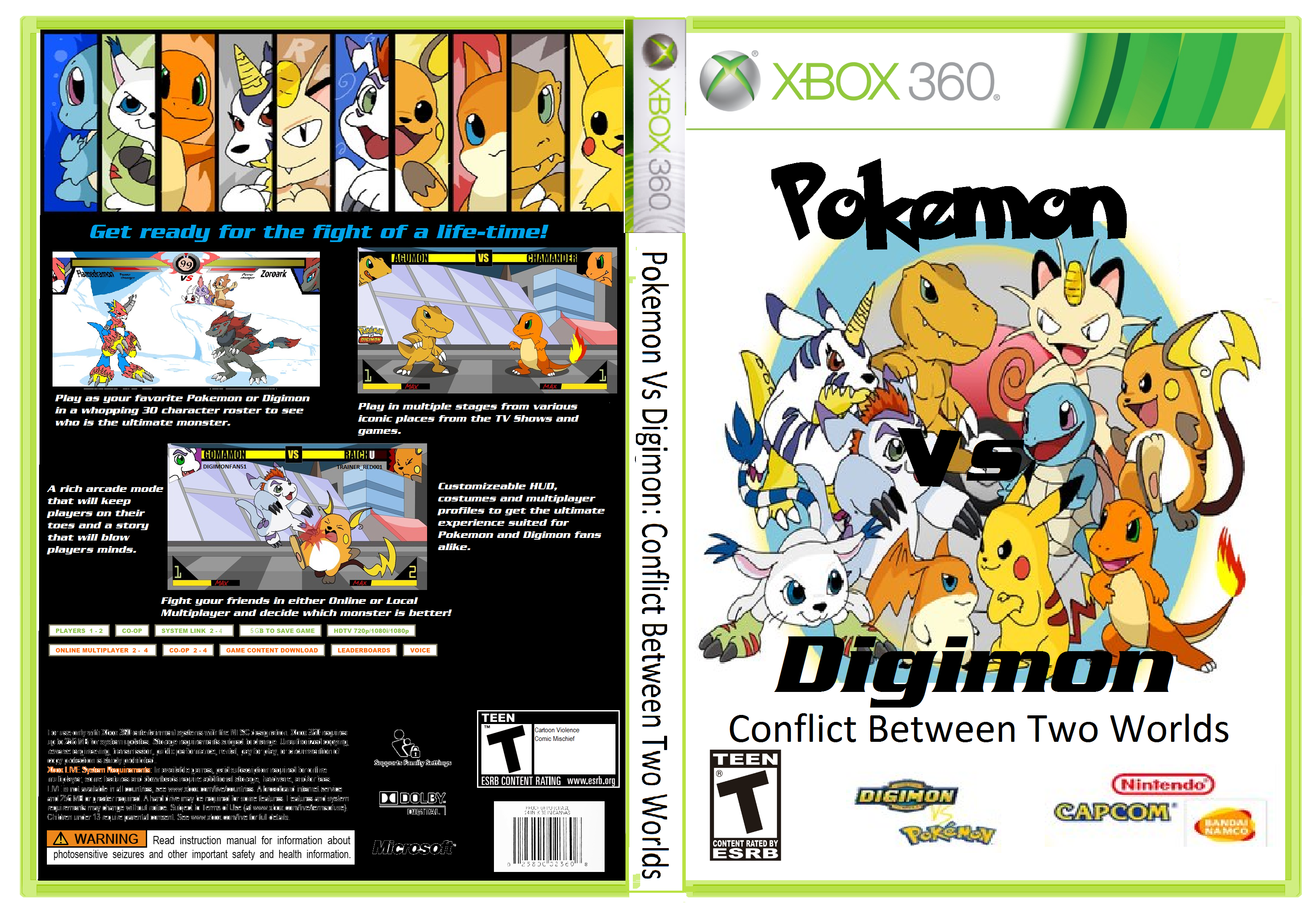 Pokemon Games For Xbox 1 : Pokemon vs digimon cbtw xbox boxart by syntheticshark