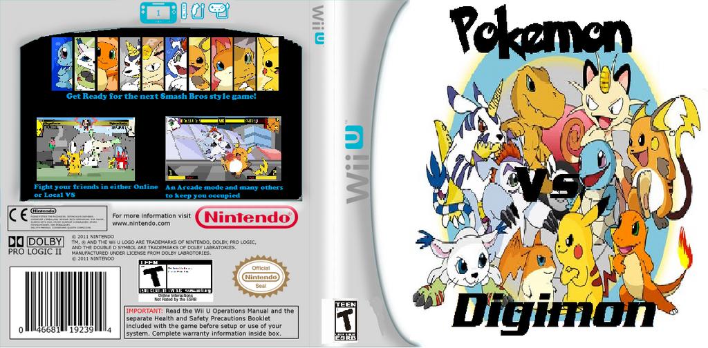 pokemon vs digimon cbtw wii u boxart by advancedyoshi on