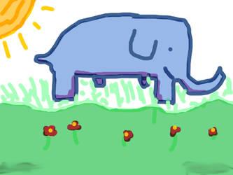Happy Elephant by ikemama