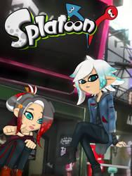 Splatoon V V with Logo~ by kyo4kusanagi