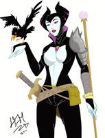 Drink and Draw NYC challenge  Maleficent by Lemwell