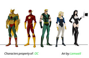 Justice League set 2 by Lemwell
