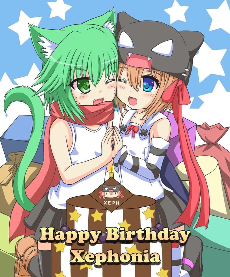Happy birthday to Xeph by GreenTeaNeko