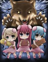 3 Little Pigs by GreenTeaNeko
