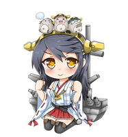 Haruna Chibi by GreenTeaNeko