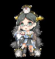 Kirishima Chibi Damaged Version by GreenTeaNeko