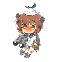 Yukikaze Chibi Damaged Version by GreenTeaNeko
