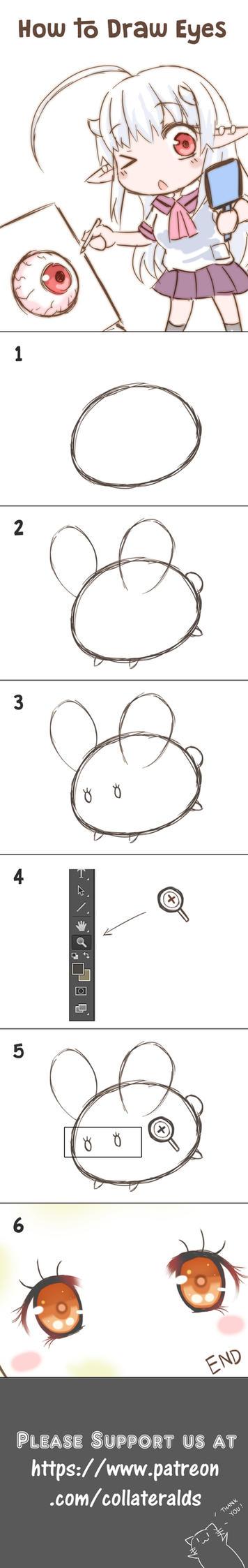 How to draw eyes DA by GreenTeaNeko