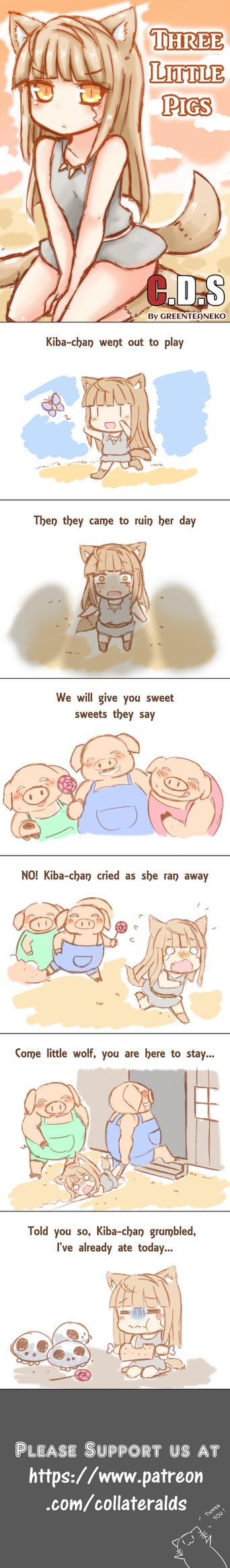 Webcomic: 3 little pigs by GreenTeaNeko