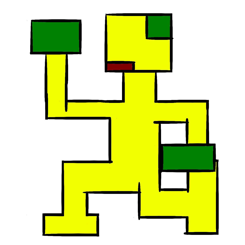 Yellow Running Man by PlainPilot