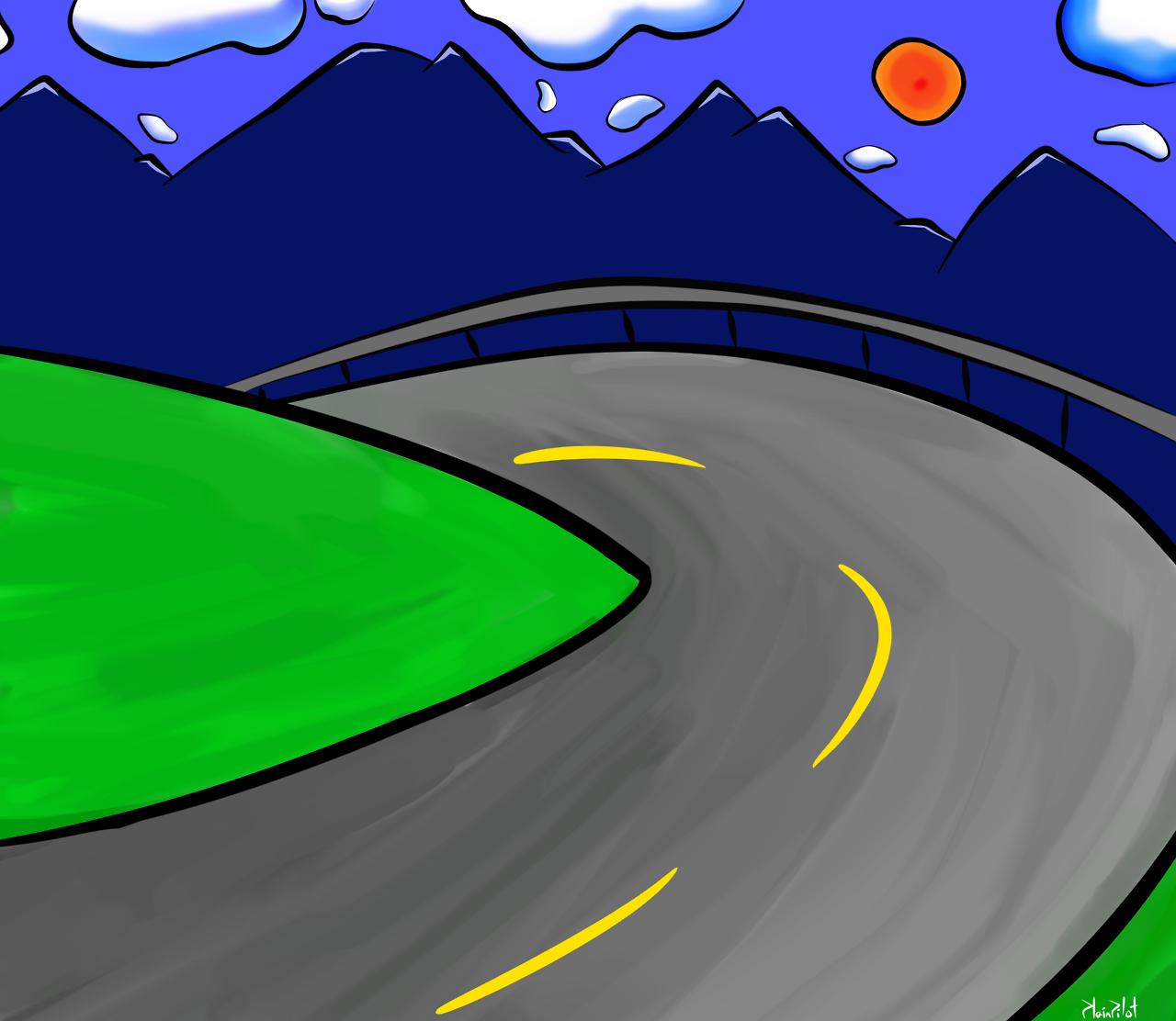 Road Background by PlainPilot