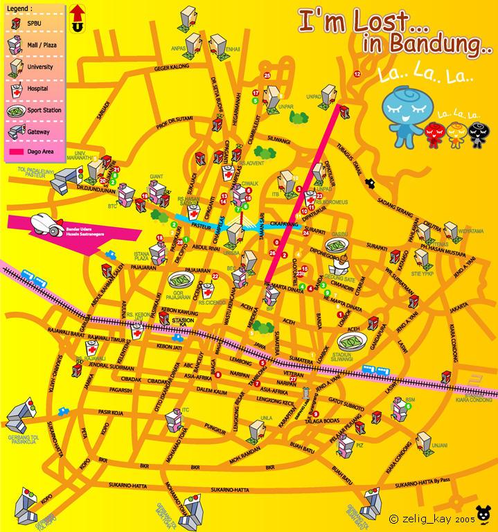 Peta Bandung by kuebulan