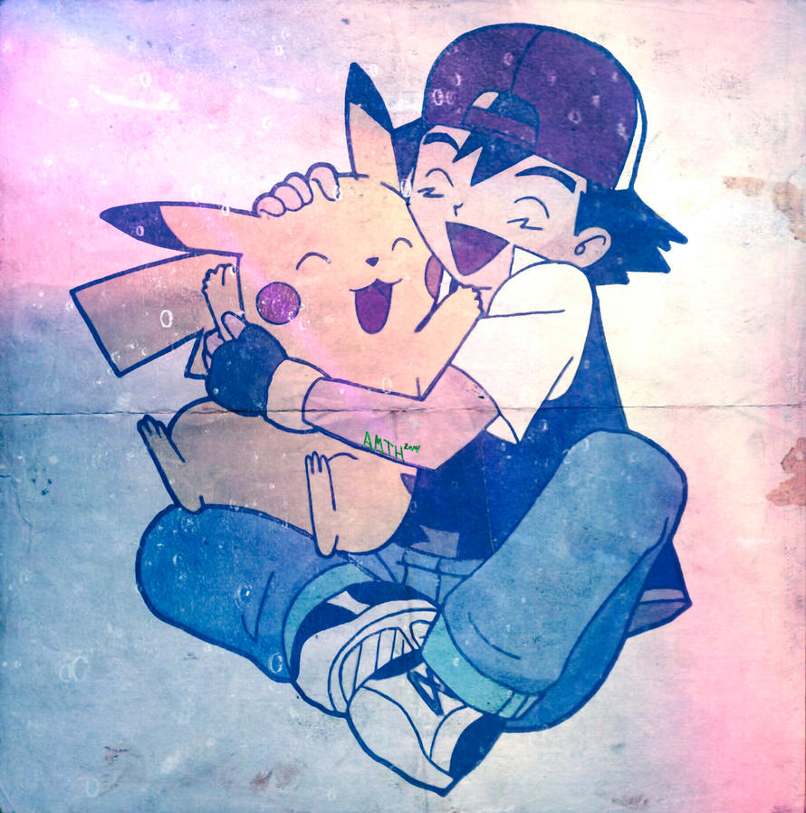 Ash and Pikachu (special effects added) by Ocraxhaydon