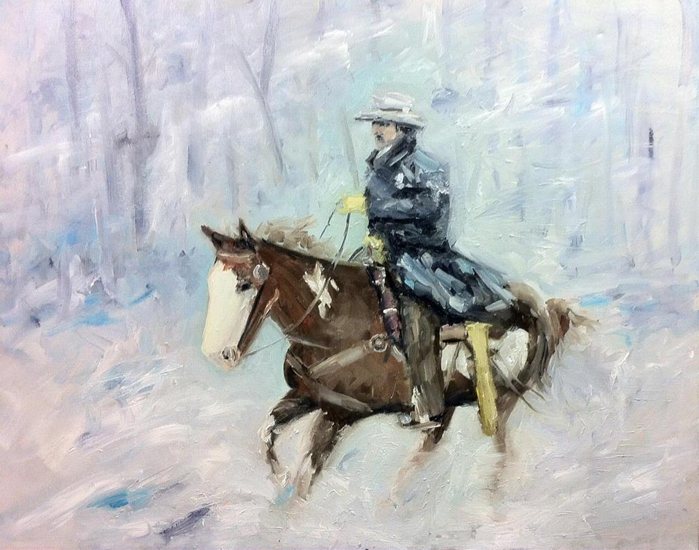 Snowrider by NancyvandenBoom