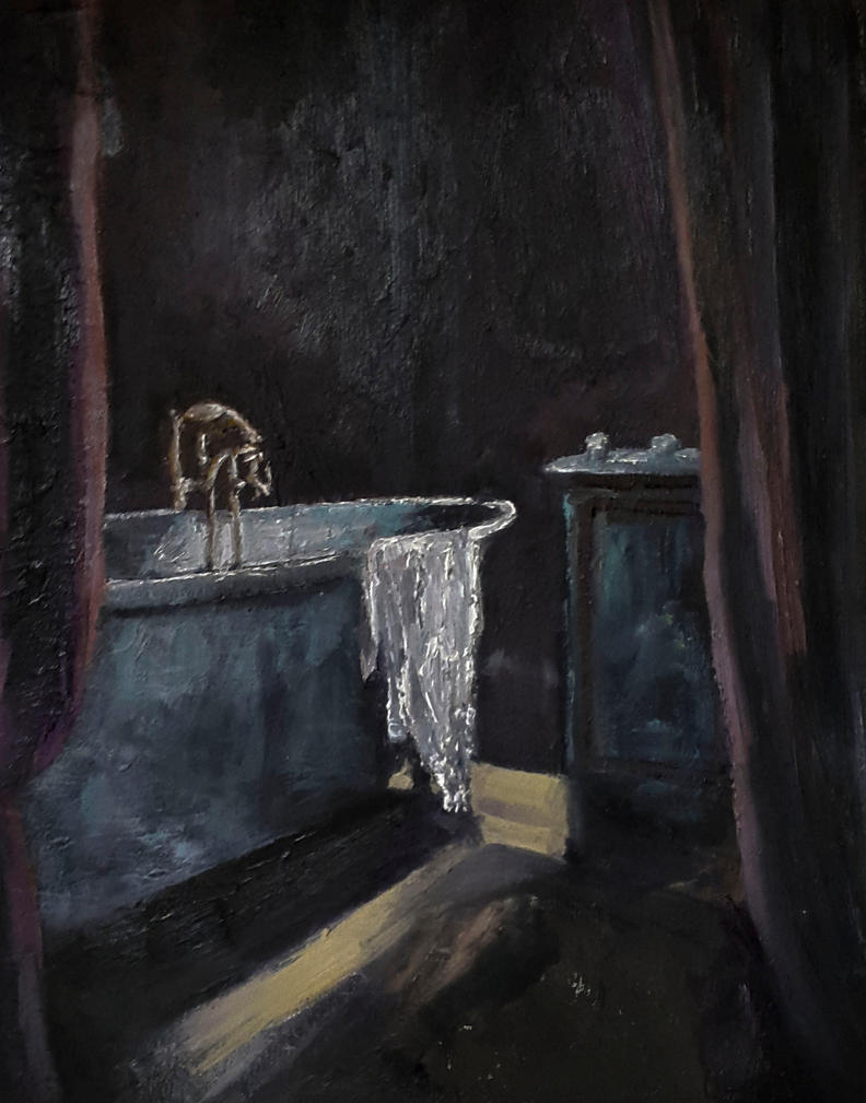 The Bathtub oil painting 24 x 30 cm / 9 x 12 inche by ...