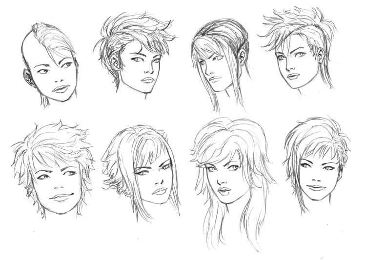 Hair Style References: Hair On All-Tutorials