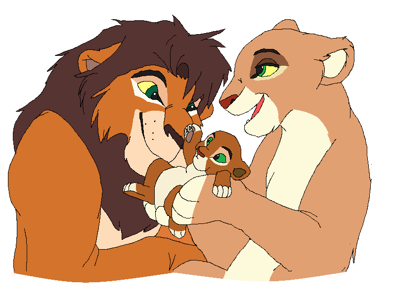 lion family for HaloSon by vitani211