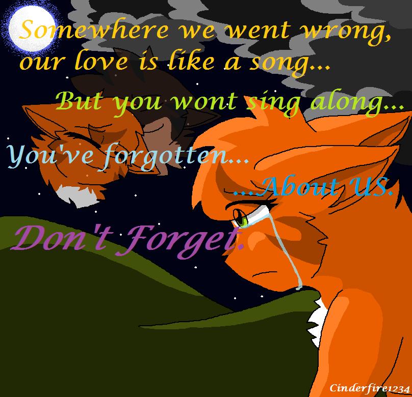 Squirrelflight-Don't Forget by Cinderfire1234