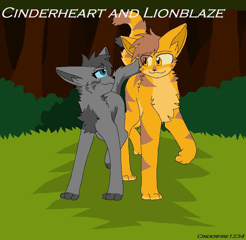 LionblazexCinderheart by Cinderfire1234