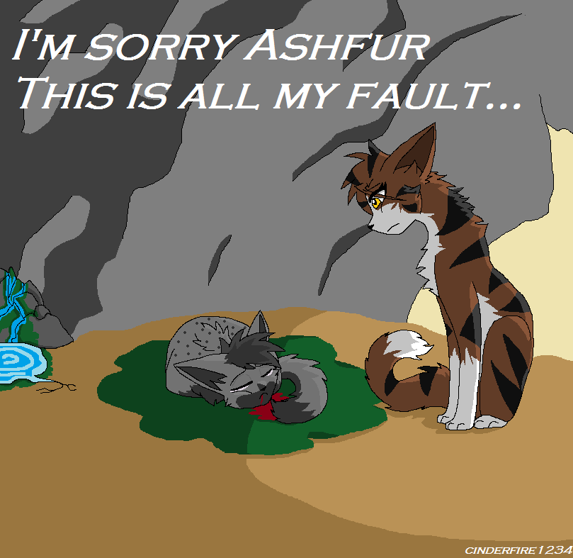 Ashfur and Leafpool by Cinderfire1234