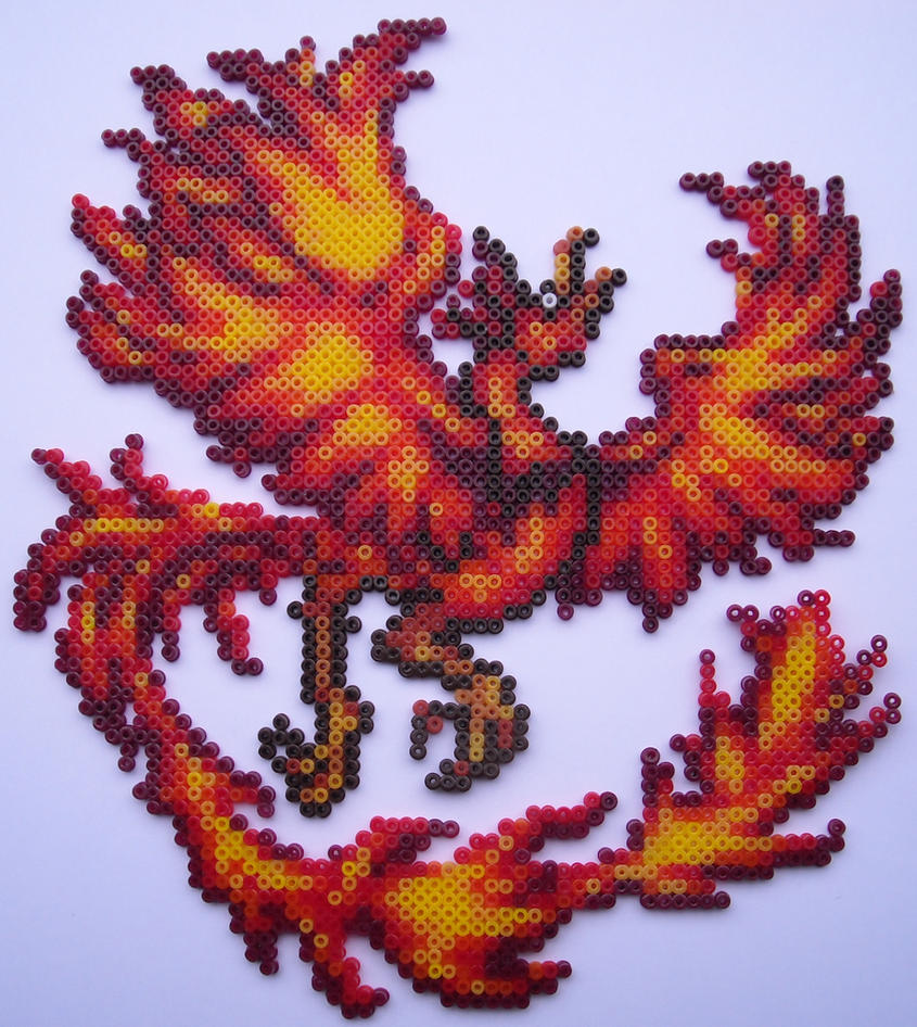 hama mini beads phoenix by alex7190 on deviantart. Black Bedroom Furniture Sets. Home Design Ideas