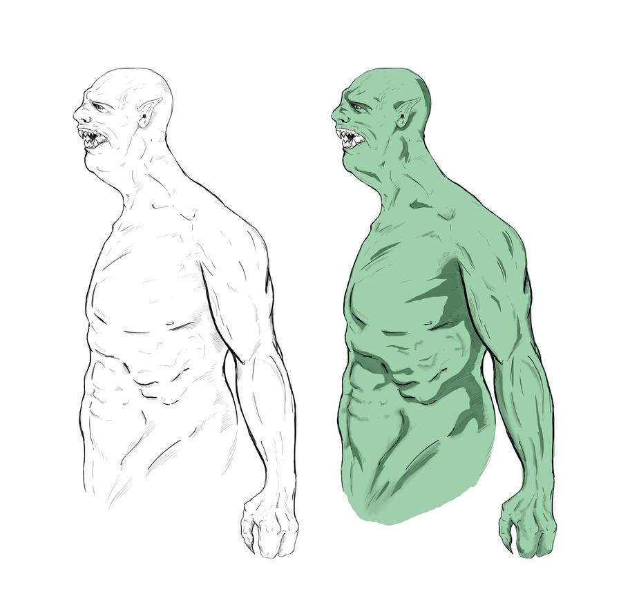 Orcs - Sketches by watsondonald