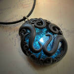 Tentacled Glass Necklace (turquoise)