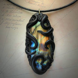 Tentacled Labradorite Necklace #2