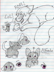 Sketches of Alfredo by Lyladagger