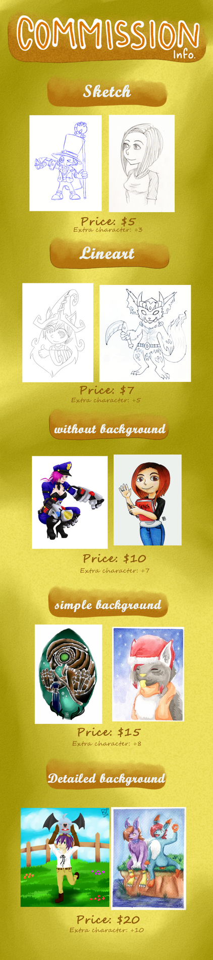 Commission prices by kisuili