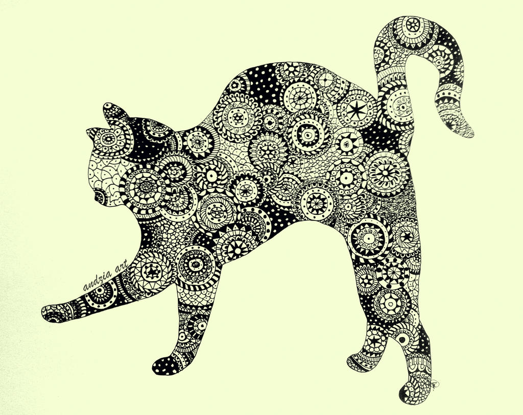 Mandala Cat by Artopolosis