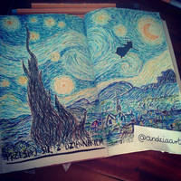 Van Gogh - Starry Night ( wreck this journal) by Artopolosis