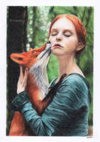 Girl with Fox by Artopolosis