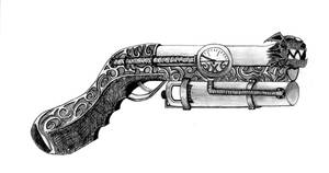 Steampunk Gun 1 by Raziel-son-of-Kain