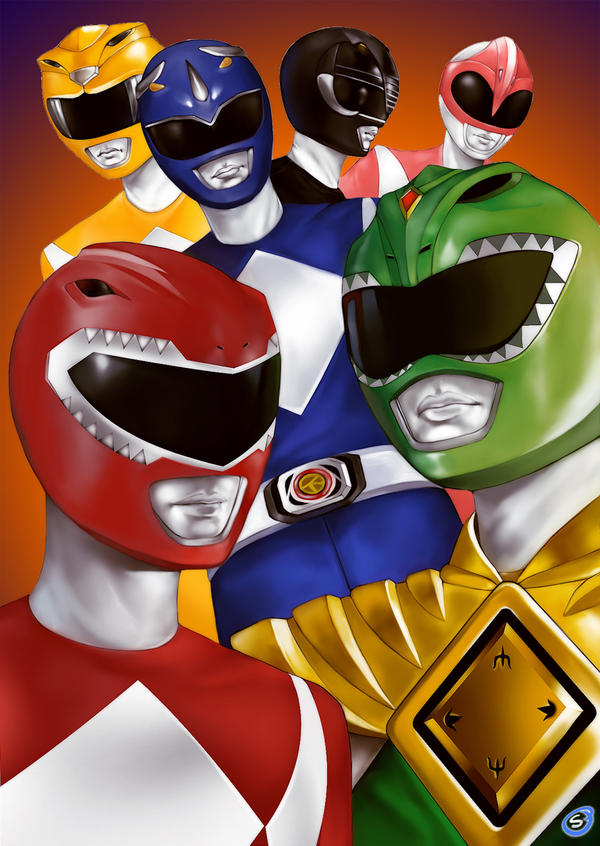 Mighty Morphin Power Rangers by super-badass